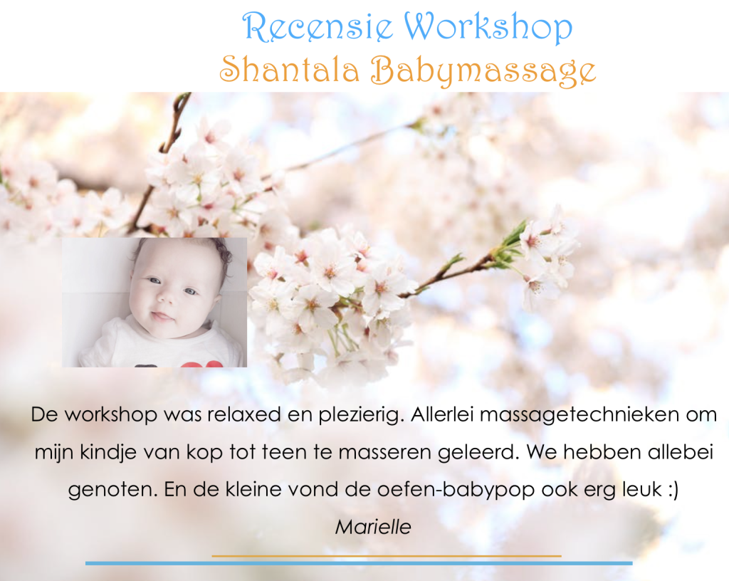 Recensie Shantala Babymassage workshop LotusBalans