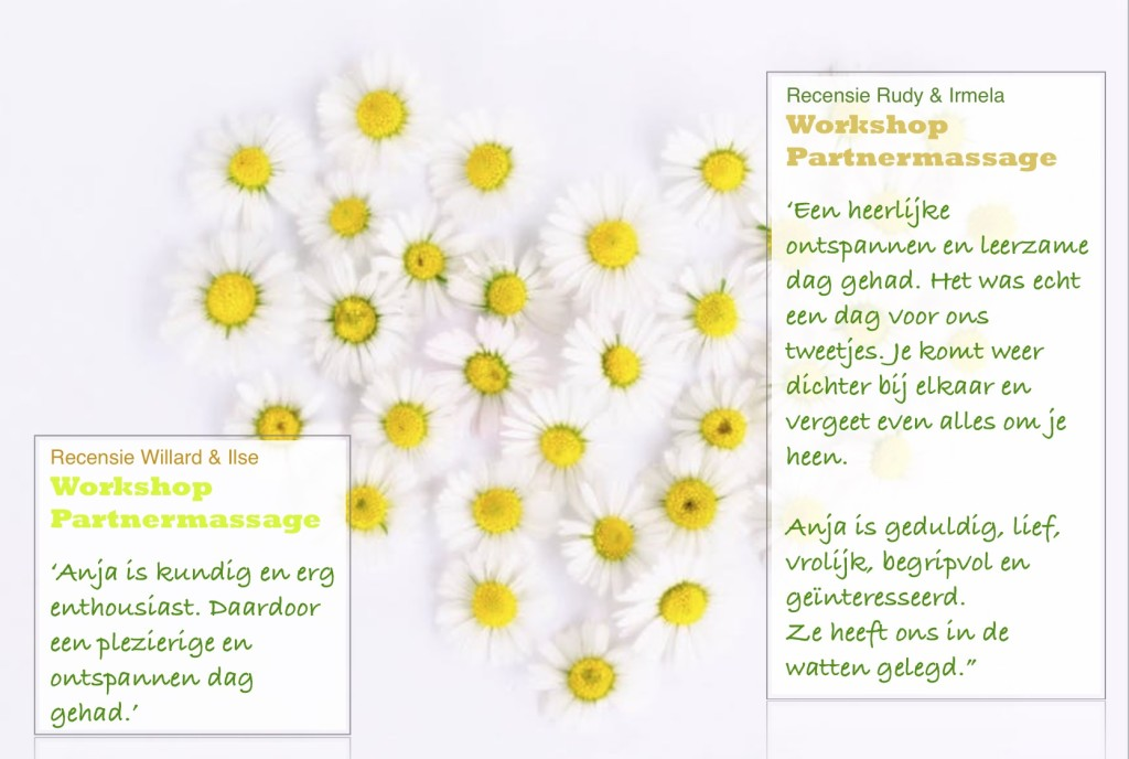 Recensie Workshop Partnermassage LotusBalans zelf masseren
